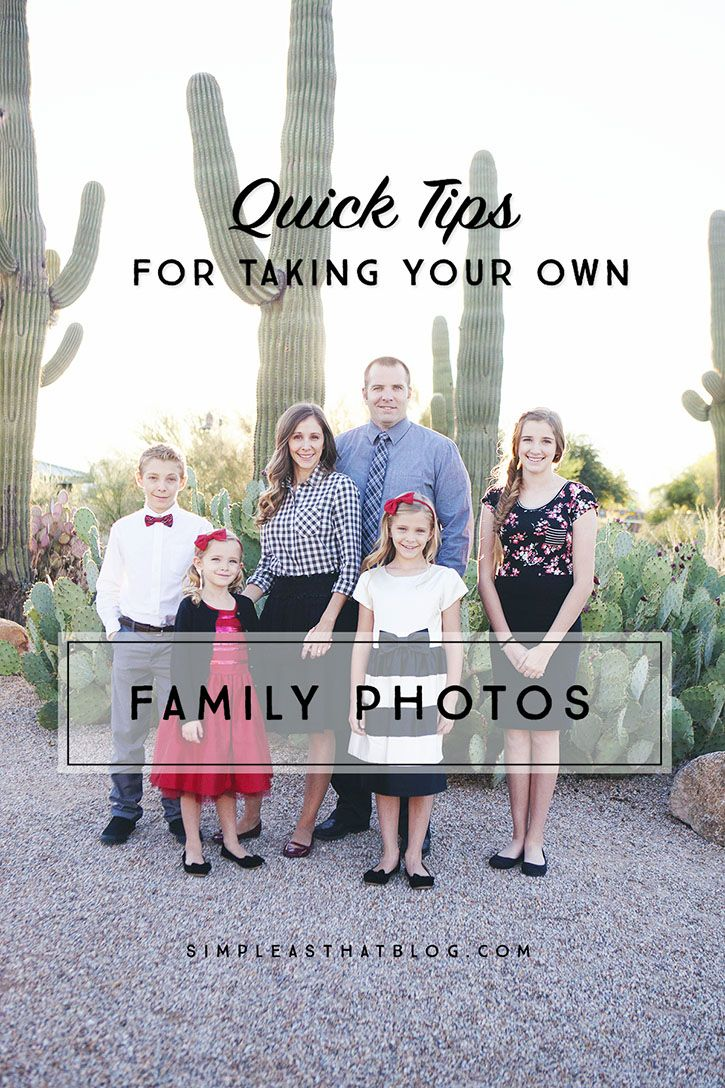 5 Quick Tips for Taking your own Family Photos | If I were ...