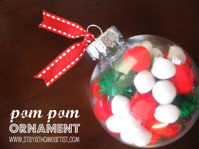Easy pom pom ornament