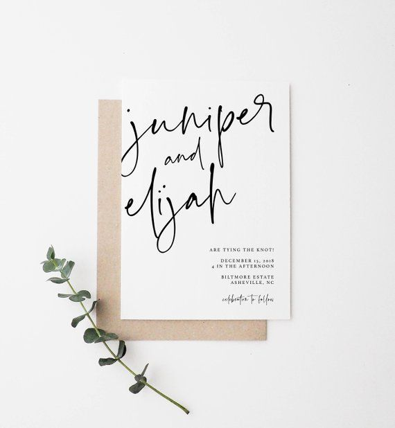 Simple Wedding Invite | Modern Wedding Invite | Minimal Wedding Invite