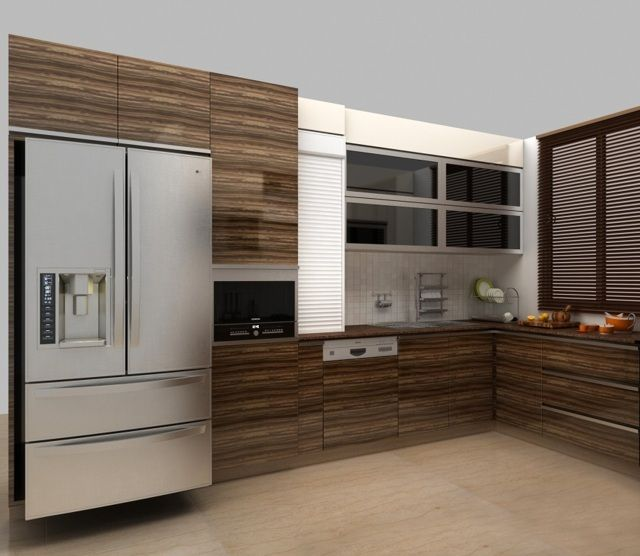 modular kitchen sleek indian style modular kitchen photos. | Wood ...