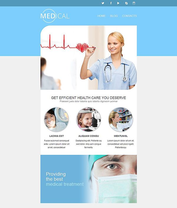 medical responsive newsletter template ht newsletter marketing and