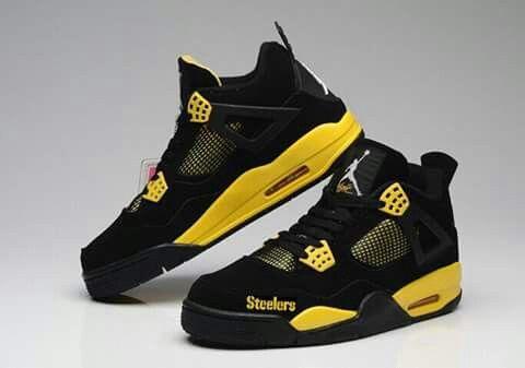 wholesale dealer f6756 2dd77 Ya think, wear them with Steeler pride! Jordan 4, Air Jordan 11 Bred