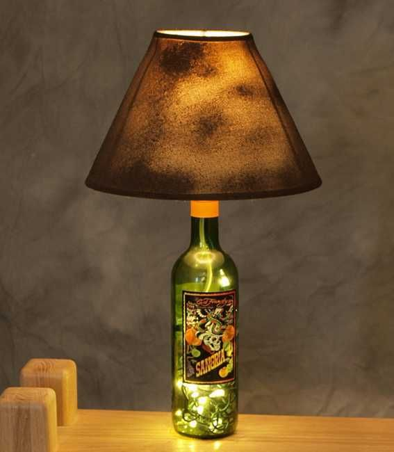 20 Amazing Glass Recycling Ideas For Creating Bottle Furniture Home Decorations And Lights Wine Bottle Lamp Bottle Lamp Recycled Wine Bottles