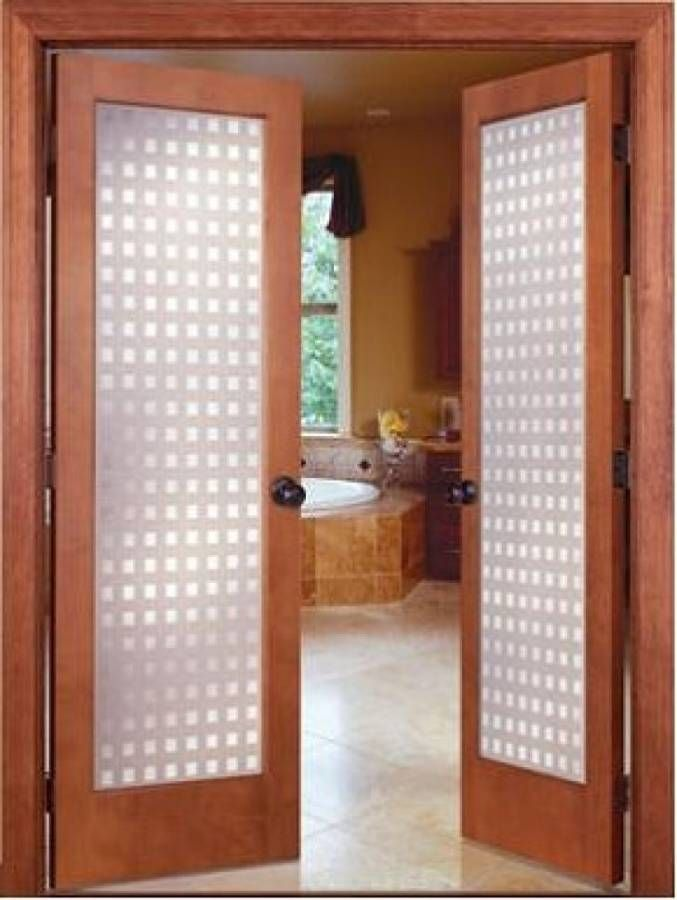 Captivating Prehung Interior French Doors With Frosted Glass