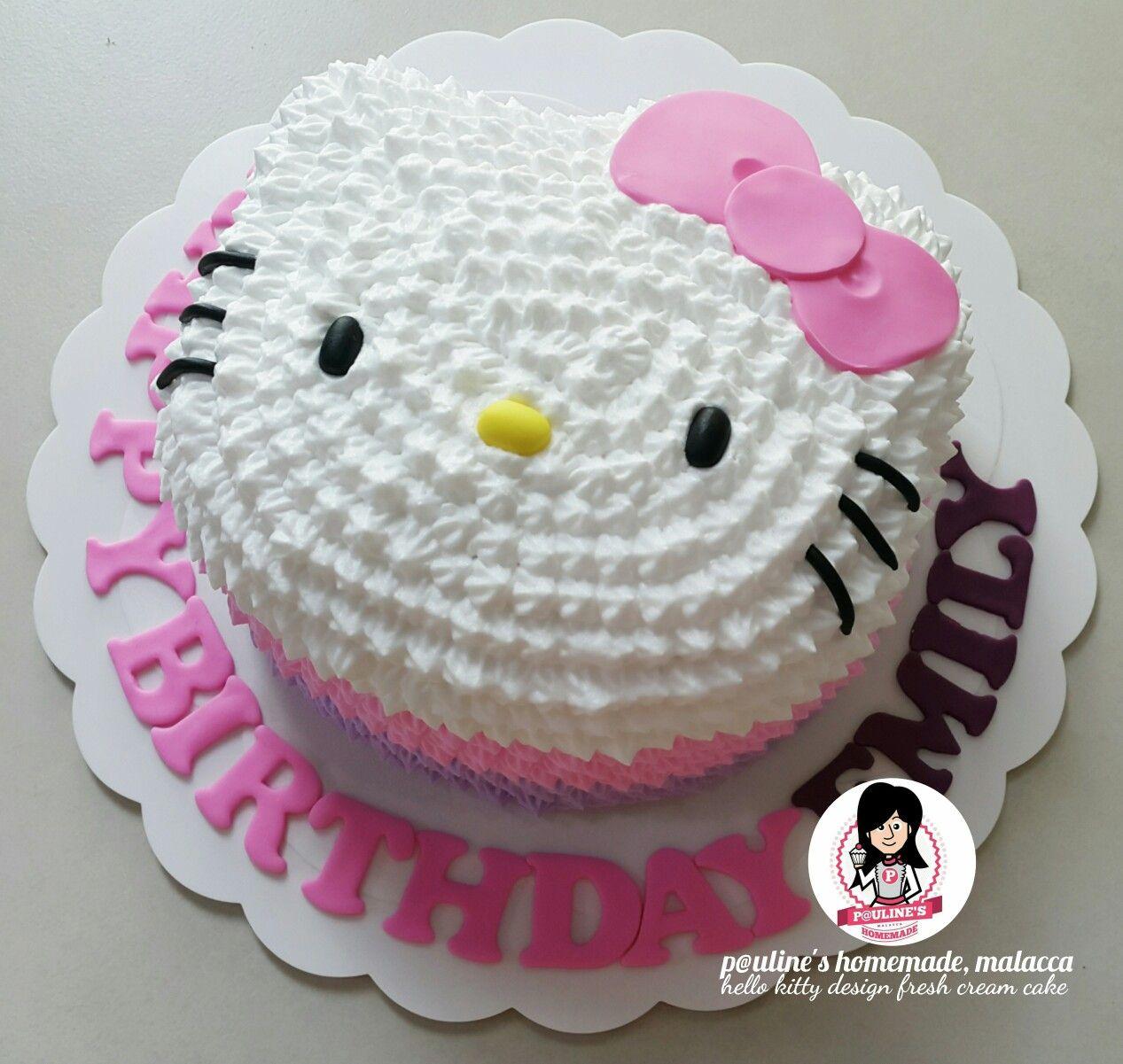 Hello Kitty Fresh Cream Cake