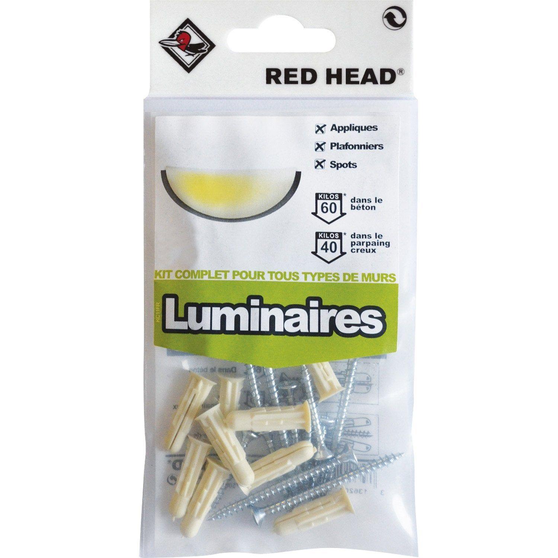 Kit Chevilles à Expansion Luminaire Red Head Diam6 X L25