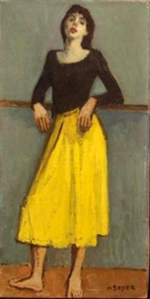 Moses Soyer - Dancer In Yellow Dress