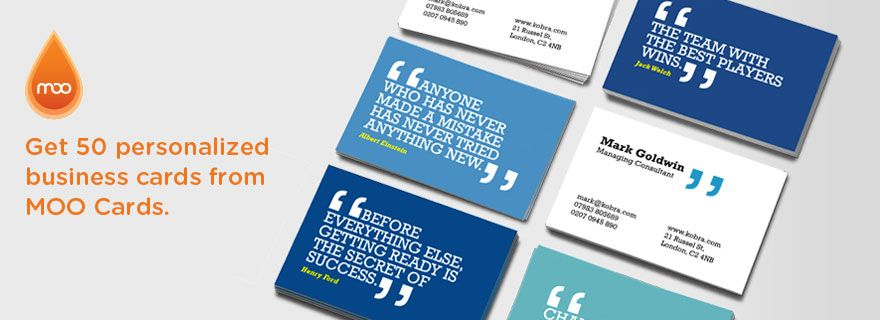 Moo Giving Influencers A Pack Of Business Cards Business Card Inspiration Business Cards Online Custom Business Cards