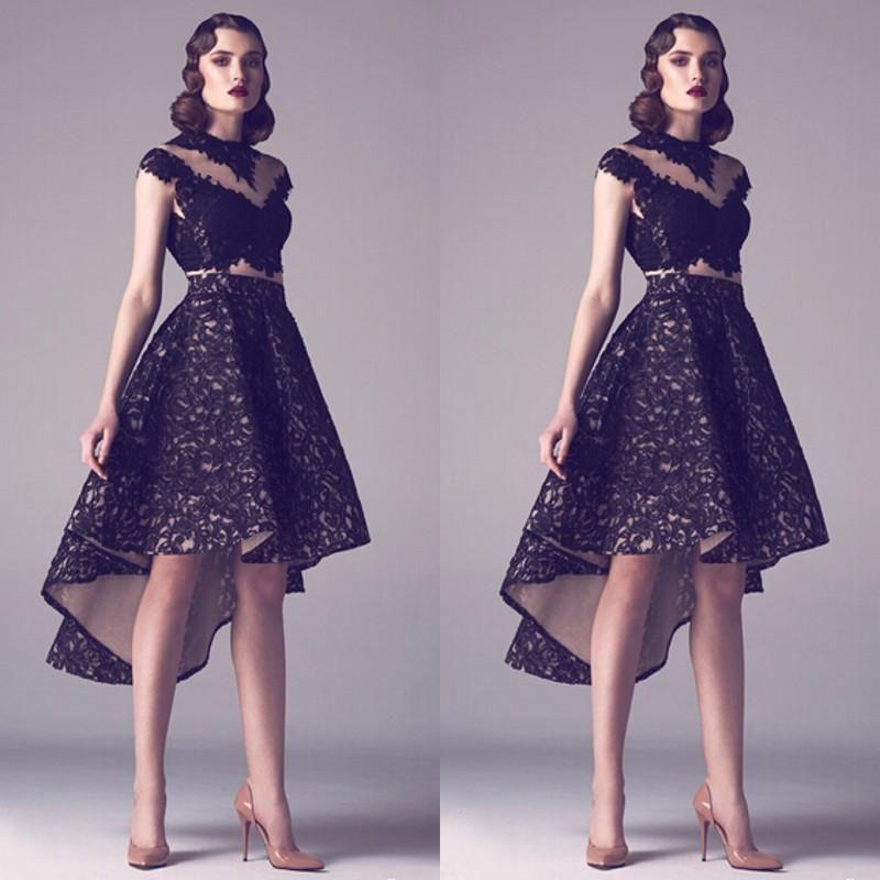 Stunning Arabic Evening Dresses 2016 Vintage Lace Jewel Cap Sleeve ...