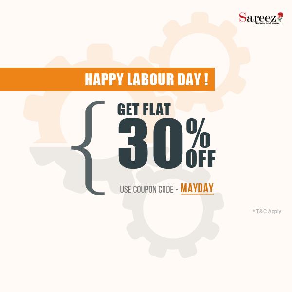 Get Flat 30 Off From Sareez Com Happy Labor Day Company Logo Tech Company Logos