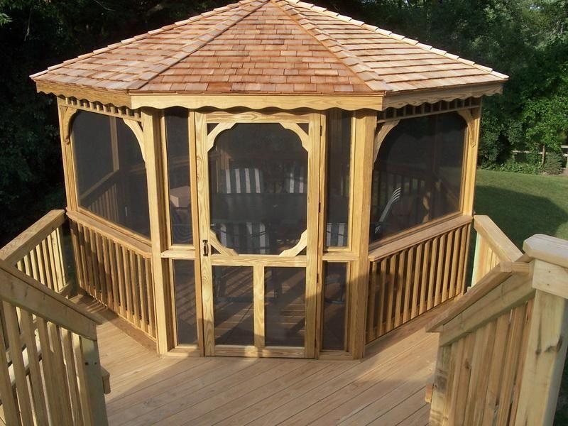 A Free Standing Deck Screen Room Gazebo Roof Gazebo On Deck