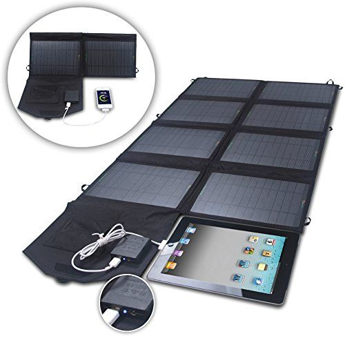 Amazon Com Sunkingdom 52w 24v Portable Folding Outdoor Solar Panel Charger With Dual Output 24v Solar Panel Charger Solar Battery Charger Diy Solar Charger