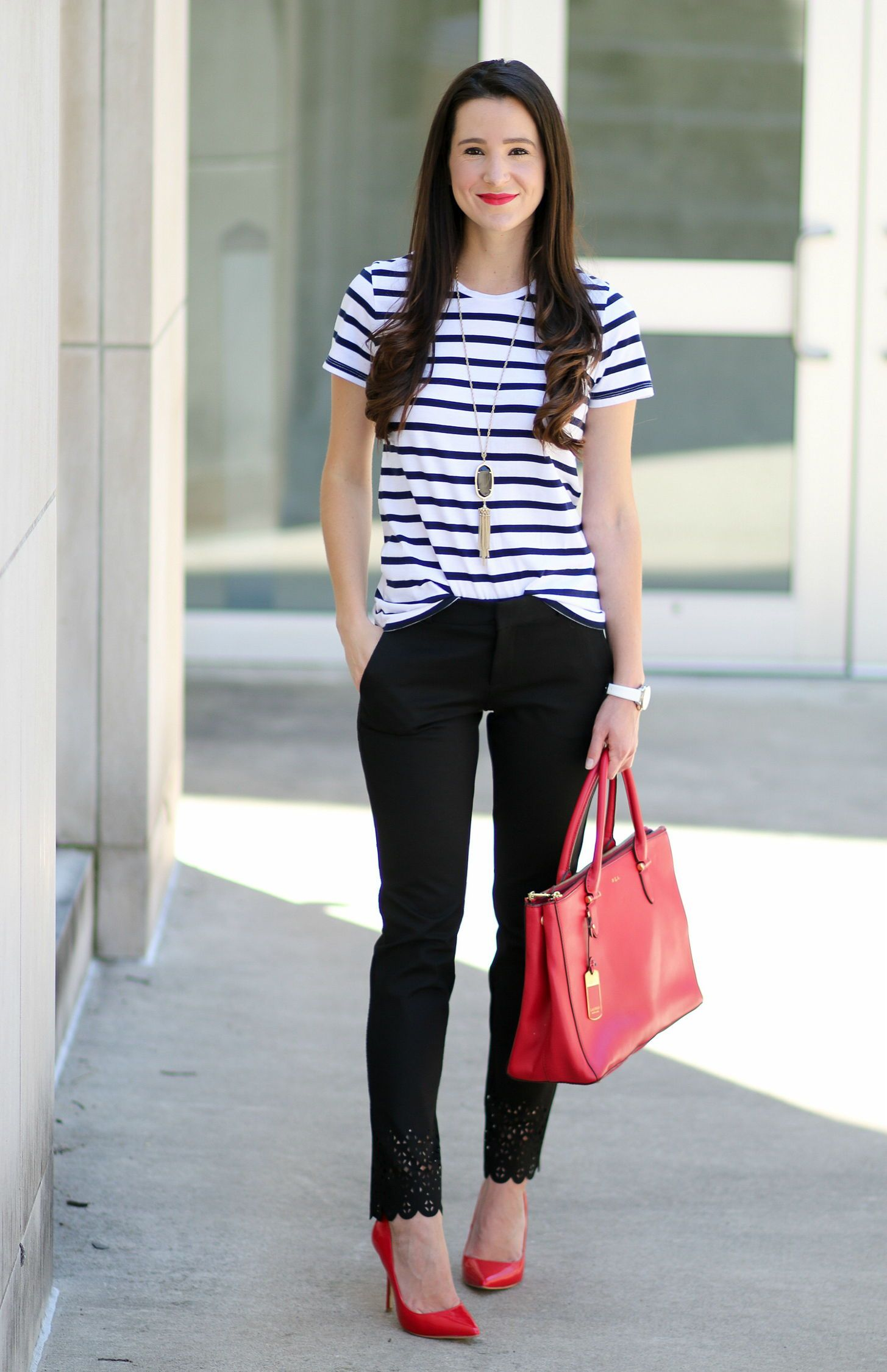 Classic work outfit idea for summer-- Banana Republic