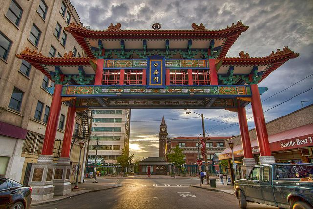 Seattle Chinatown Gate at Sunset - HDR by David Gn Photography, via Flickr