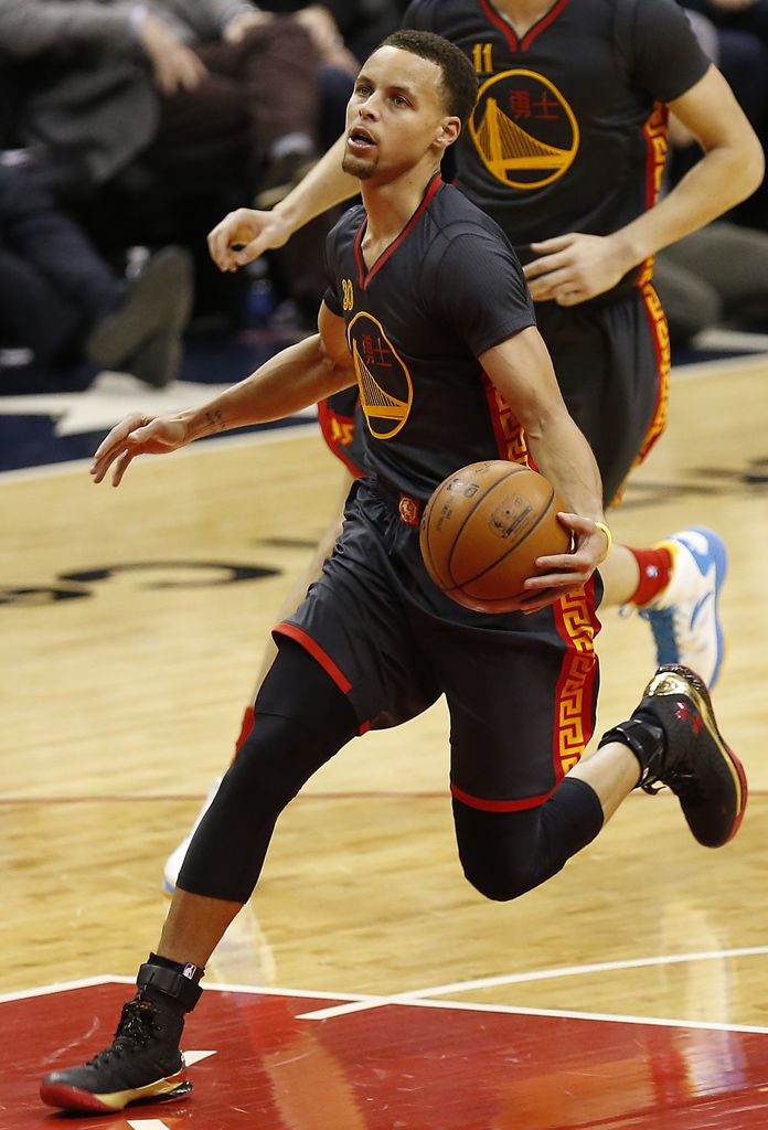 4d65ddf1298b Stephen Curry Wears  Chinese New Year  Under Armour Curry One PE ...