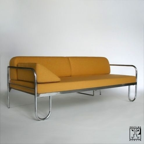 Tubular Steel Couch According To A Draft By Anton Lorenz Zeitlos