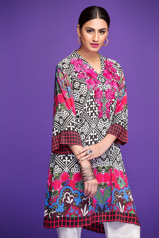 fba30a18e1 Nishat Linen Winter Dresses Collection 2018-2019 Stitched & Un-stitched |  aa | Winter dresses, Dress collection, Dresses