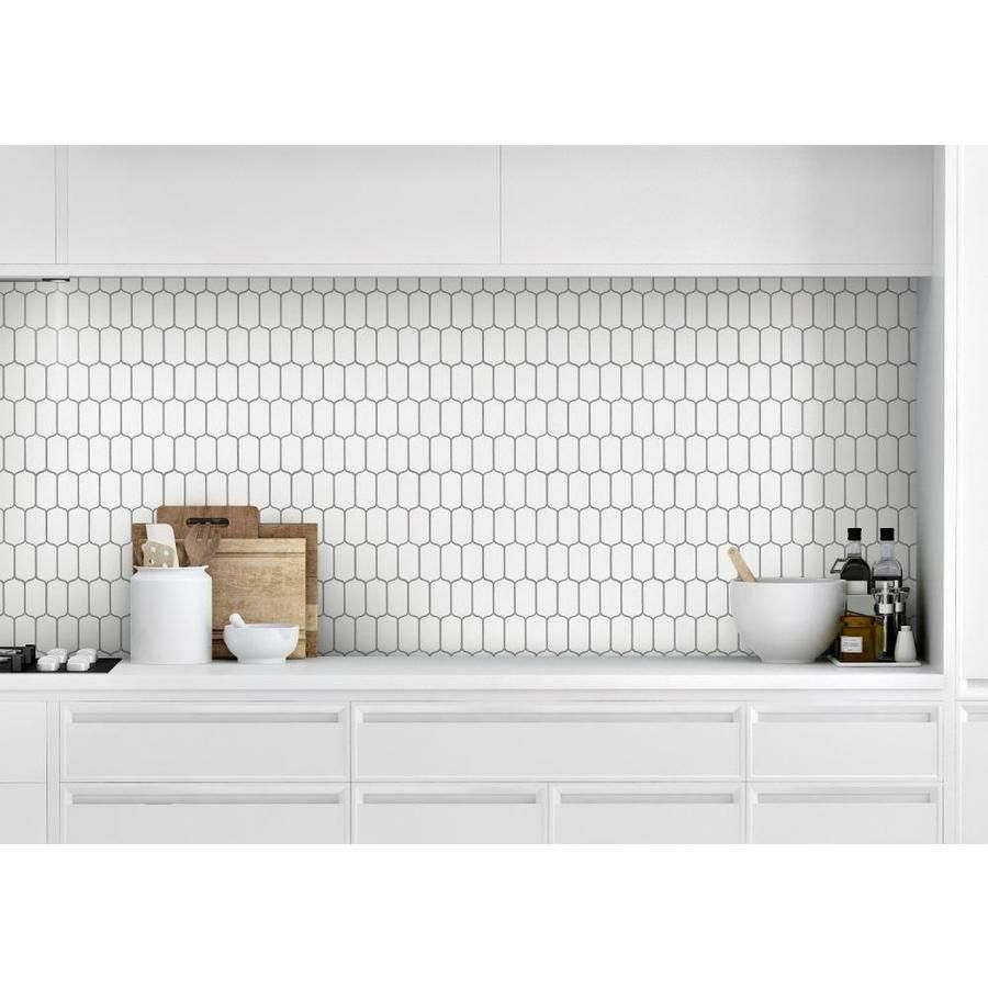 Bedrosians Isabella White 10 In X 12 In Glazed Ceramic Lantern Mosaic Wall Tile Lowes Com Mosaic Tile Backsplash Kitchen White Tile Backsplash Lantern Tile Backsplash
