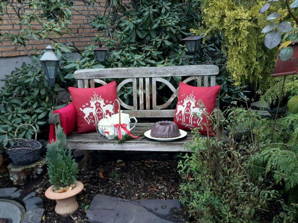 gartenbank weihnachtlich dekoriert betonkuchen weihnachtsdekoration 2016 meine ideen. Black Bedroom Furniture Sets. Home Design Ideas