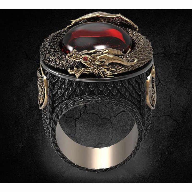 Luxury gold dragon men ring aliexpress tsg labs steroids