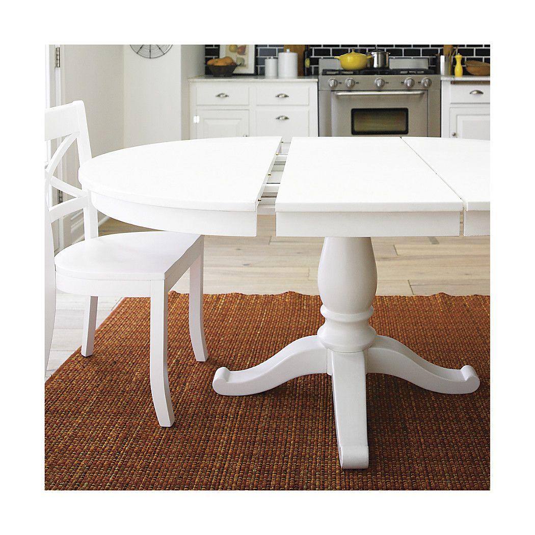 White Extension Dining Table Avalon 45 White Extension Dining Table Casual Dining Rooms