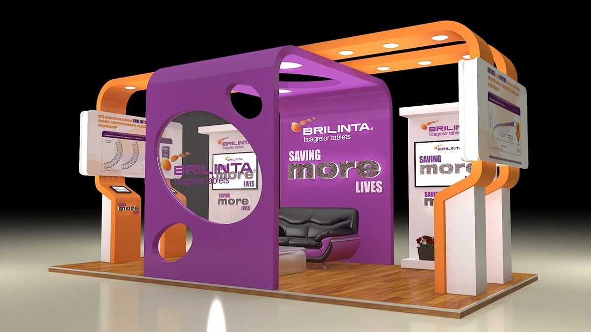 Astrazeneca Brilinta Exhibition Design On Behance Exhibition Design Design Exhibition Booth Design