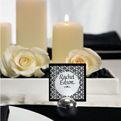 Silver Ball Place Card Holder