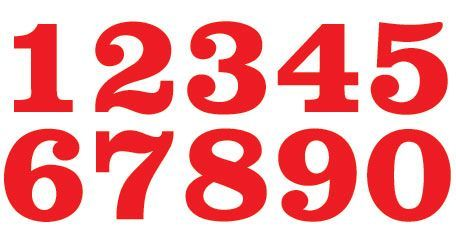 Racing Number Fonts We can customize | Great ideas | Number