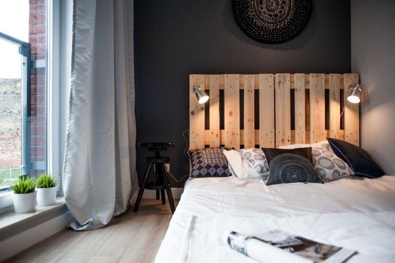 D co noir et blanc dans un petit appartement chic et raffin d coration chambre - Deco noir et blanc chambre ...