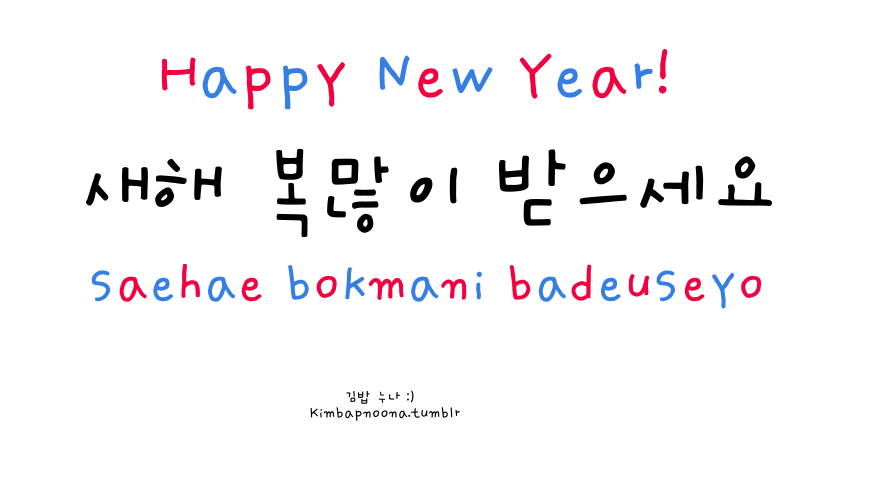 happy new year saehae bokmani badeuseyo learn korean pinterest learn korean korean lessons and korean