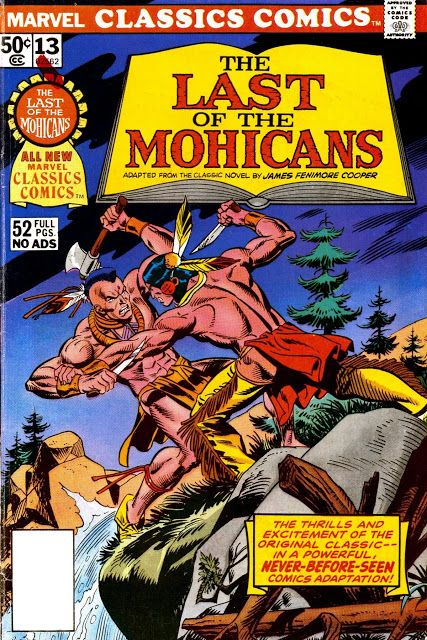 The Last of the Mohicans   Marvel Classic Comics #13  comic books comics