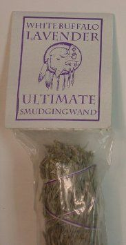 Lavender - Ultimate Smudging Wand - White Buffalo/Spirit Dancer. Large aromatic smudge stick that is 9 inches or longer, and over an inch thick.
