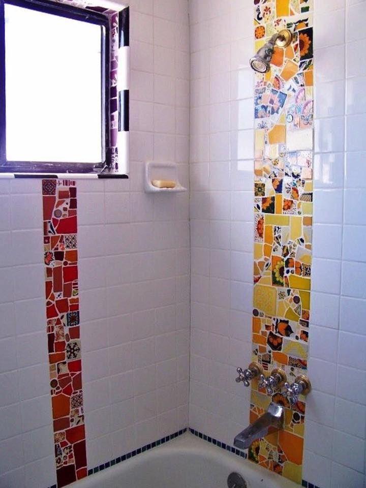 Pin de Disfruta Creando Tutoriales en MOSAICOS Pinterest - baos con mosaicos