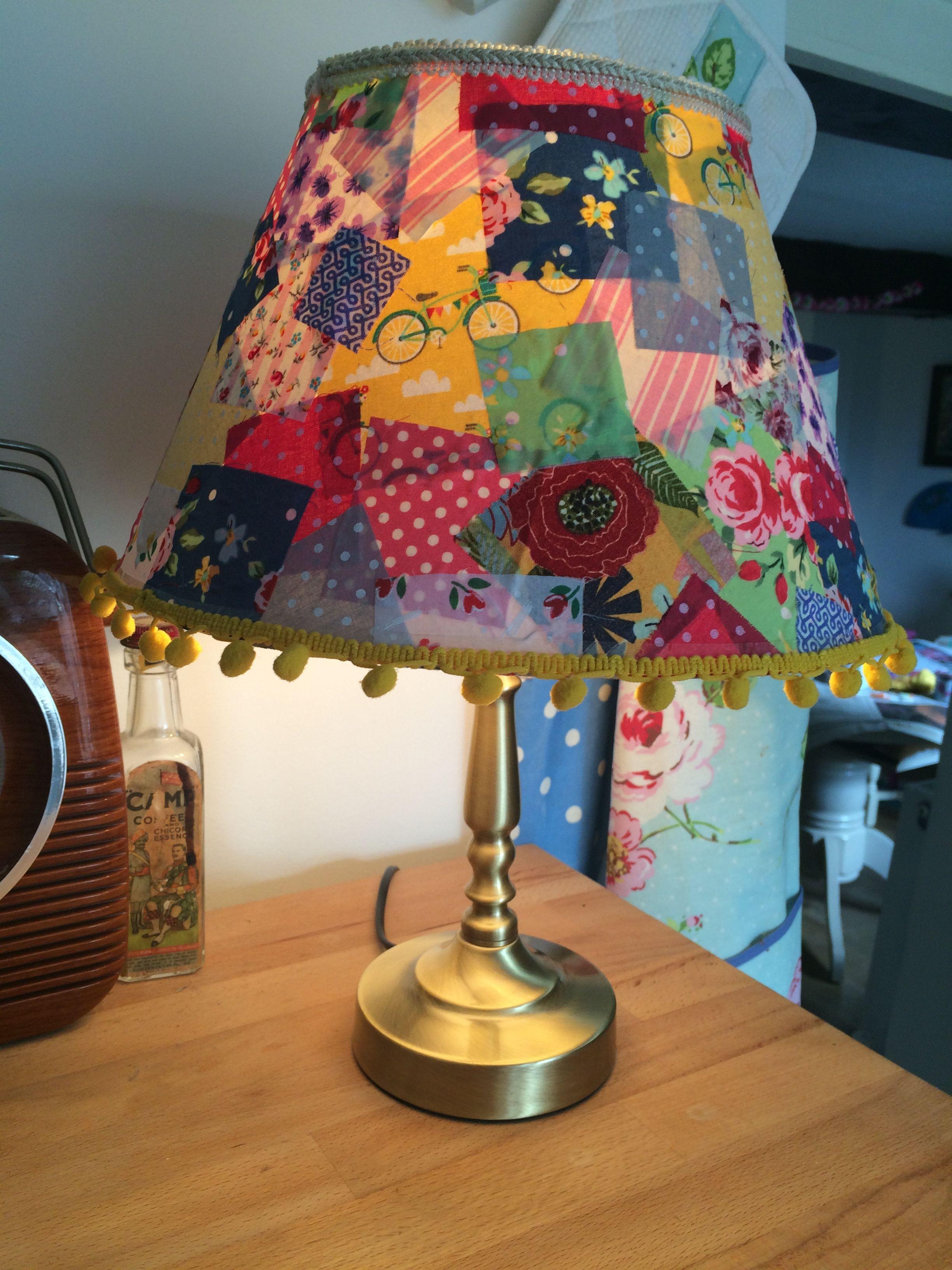 Upcycled Lampshade Fabric Decoupage Lamp Shades Decor