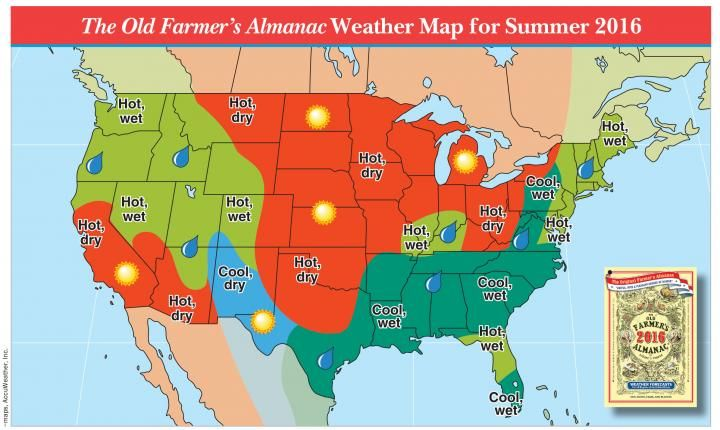 2019 Summer Forecast: Hotter Temps Out West, Rain for Others ...