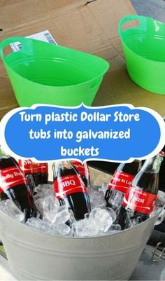 Diy Galvanized Tubs From The Dollar Store Dollar Stores Diy