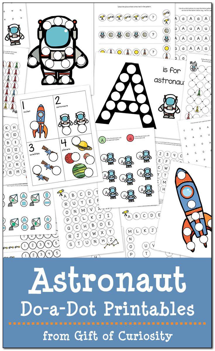 Astronaut Do A Dot Printables Free Space Theme Preschool Space Preschool Do A Dot [ 1200 x 735 Pixel ]