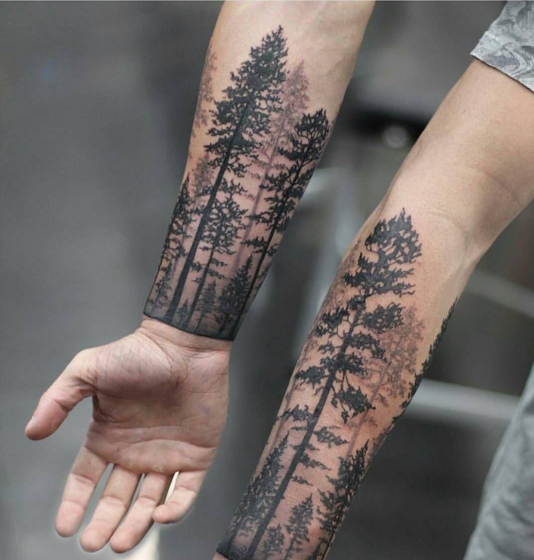 16++ Tatouage avant bras homme foret ideas