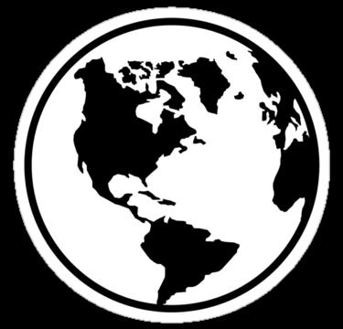 World Map Globe Sticker By Designzz Globe Tattoos Map Globe Computer Sticker