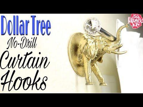 Dollar Tree Diy Curtain Hook No Drill Renter Friendly Hack