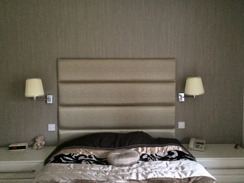 Gold Strips 1 Leather Wall Headboard Padded Wall