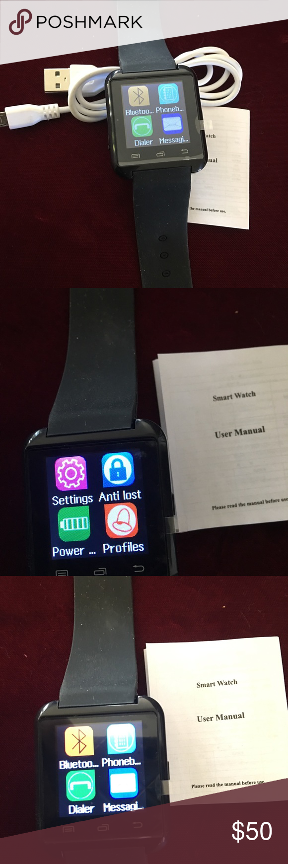 BLUETOOTH U8 SMART WATCH Great Bluetooth for IPhone Android