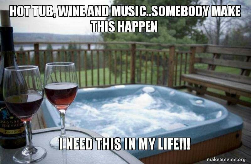 Pin By Yezz Yezzie On Random Wine Preserver Hot Tub Wine Meme