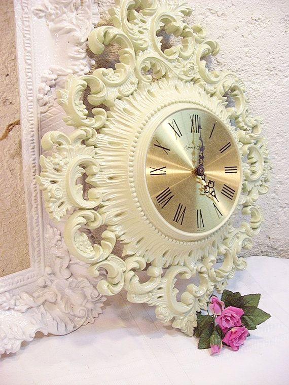 Ornate Light Mint Green Wall Clock Wall Decor   Pinterest   Mint ...