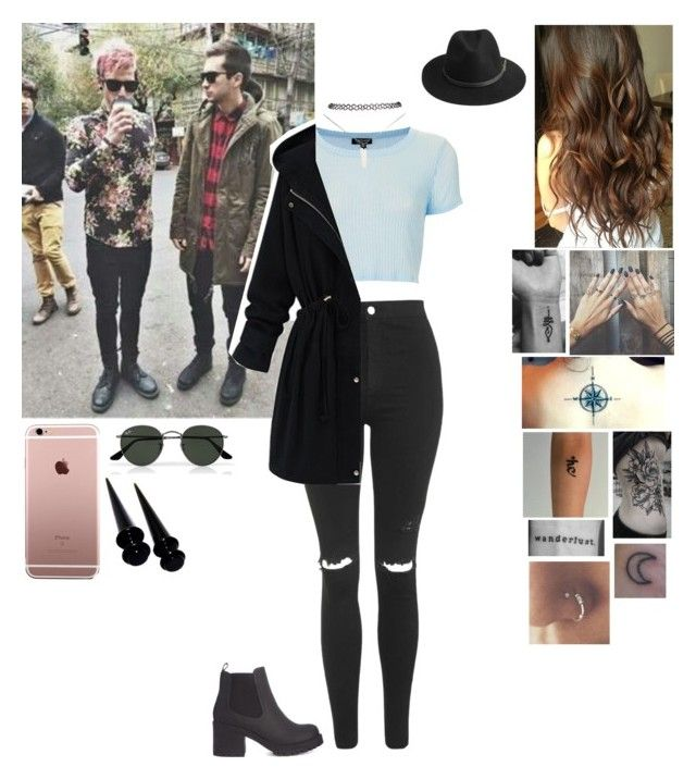 """""""England with Josh & Tyler"""" by cc-quinn ❤ liked on Polyvore featuring Topshop, BeckSöndergaard, Ray-Ban and Wet Seal"""