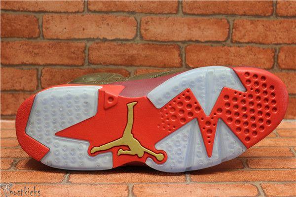 Air Jordan 6 Retro Washed DenimBlack Sail Varsity Red