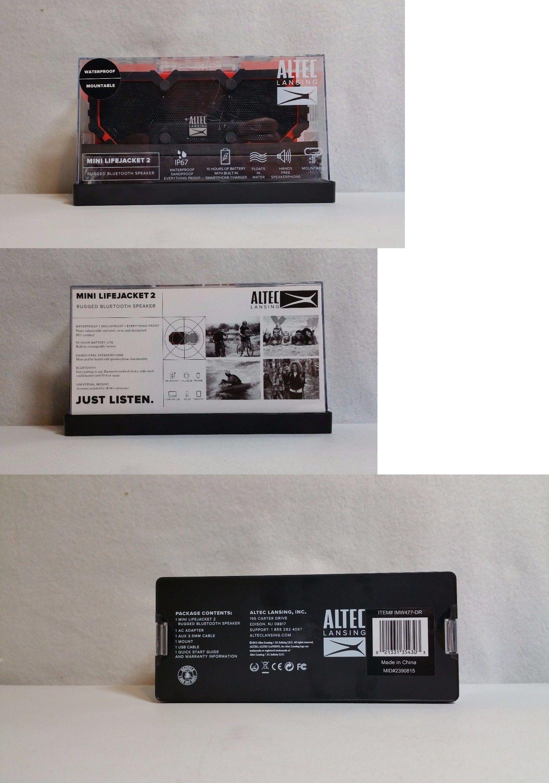 Audio Docks and Mini Speakers New Altec Lansing Mini Lifejacket 2 Bluetooth Waterproof Speaker