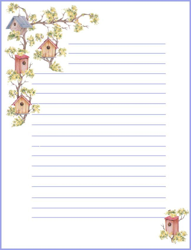 Free printable notepaper from Rainbow Row Graphics | Misc