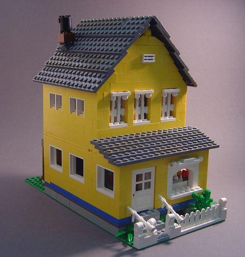 Yellow Farmhouse Lego house, Lego furniture, Lego building