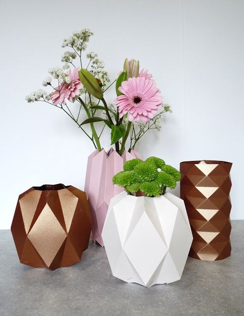 Rue Rivoirette Diy Un Vase Origami Origami Pinterest